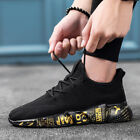 Breathable Mens Sneakers Casual Fitness Gym Black White Gray Shoes Size 12 10.5