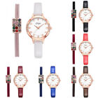 Fashion Women Ladies Watches Crystal Leather Analog Quartz Wrist Watch Hair Ring image