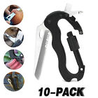 Climbing Rock Button Carabiner Mountain Multi Functions Super Buckle Metal US