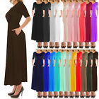 J Doe Style Women's Basic Waist Band and Scoop Neck Long Dress (Size:S-5X)1079