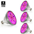 100Watt LED Grow Light Bulb Plant Grow Lamp E27 Full Spectrum  Garden Fruit Veg. Buy it now for 56.38