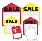 red sale tags - SALE PRICE Red Yellow Retail Unstrung without Strings Coupon Merchandise Tags