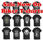 Biker T-Shirt Sale UP to 5XXL Motorcycle Tshirts, Outlaw Skull, Harley Triumph $13.65 AUD on eBay