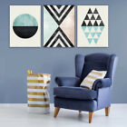 3x Abatract Geometric Canvas Art Print Poster Wall Painting Picture Unframed