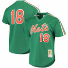 MITCHELL  NESS NEW YORK METS SAINT PATRICKS DAY MESH AUTHENTIC BP JERSEY 18 16