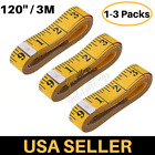 Measure Tailor Cloth Body Ruler Tape Sewing Yellow Soft Flat Seamstress 120'' 3M