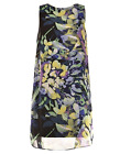 Vince Camuto Multicolor Floral Chiffon Stretch Shift Social Cocktail Dress NWT