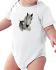 Infant Creeper Bodysuit One Piece T-shirt Horse Colt Animals k-159