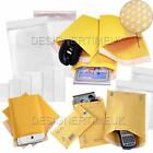 Padded Bubble Wrap Lined Envelops Bags Mailing Postage Packaging Gold Self seal