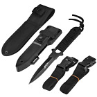 Diving Tactical Knife With Leg Straps Sheaths Outdoor Water Sports Black New