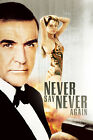 Never Say Never Again 6 Movie Poster Canvas Picture Art Print Premium A0 - A4 £10.49 GBP on eBay