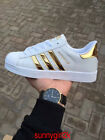 Womens Mens Trainers Lace-up  Superstars Striped Sneakers Sports Running Shoes