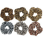 1PC Chiffon Leopard Scrunchies Hairbands Hair Bands Ponytails Holders Bobbles