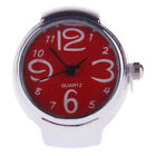 Women Lady Sleek Steel Round Dial Elastic Casual Quartz Finger Ring Watch Soft
