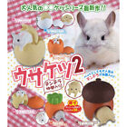 Usaketsu 2 Rabbits & Chinchillas In Cute Houses Mini Figure Collection