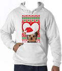 YORKSHIRE TERRIER  CHRISTMAS PATTERN HEART 1 - NEW COTTON WHITE HOODIE