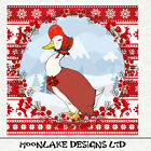 Jemimma Puddle Duck, Christmas  - Fabric Cushion Upholstery Craft Quilting Panel