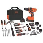 Lithium Cordless Drill battery Power Project Bag 68 Took Kit 20V Black=Decker
