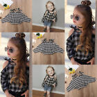 Внешний вид - Toddler Kid Baby Girl Cotton Plaid Casual Long Sleeve T-shirt Top Blouse Clothes