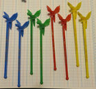 8 Corby's Whiskey Parrot Swizzle Stick Stirrers 4 Different Colors Peoria IL