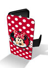 Minnie Mouse Red Polka Dot Bow Love Girly Disney Wallet Leather Phone Case
