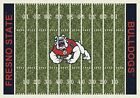 Fresno State Bulldogs NCAA Home Field Indoor Area Rug