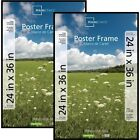 "24"" x 36"" Mainstays Basic Poster Plastic Picture Frame Rectangle Set of 2"