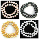 """4 Colors 8/10/12/14mm South Sea Shell Pearl Necklace 18-36"""" Magnetic Clasp"""