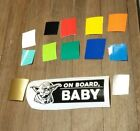 BABY ON BOARD DECAL ANY COLOR SAFETY STICKER NEWBORN STAR WARS YODA FUNNY $5.99 CAD on eBay