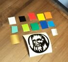 STAR WARS CHEWBACCA BADGE DECAL CUT VINYL ANY COLOR RACE DRAG TRACK GARAGE FUNNY $5.99 CAD on eBay