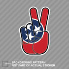 Tennessee State Shaped Peace Sign Sticker Decal Vinyl hippie 60s love TN