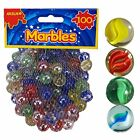 Glass Marbles Milky & Clear Coloured Marbles Kids Toys Vintage Traditional Games