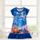 Girls Kids Cartoon Princess Dress Pyjamas Nightwear Nightgown Sleepwear 2-13Yrs фото