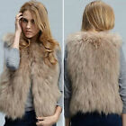 Women Winter Warm Faux Fur Sleeveless Waistcoat Casual Vest