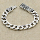 """Real 925 Sterling Silver Bracelet Link Vajra Lection Braided Chain 7.09"""" - 9.45"""""""