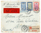 1929 Madgascar to France Registered Airmail Cover / Muller 8.