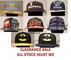 NEW ASSORTED MEN'S LOGO EMBOSSED EMBROIDERED BASEBALL SNAP-BACK CAPS *CLEARANCE*