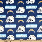 "NFL - San Diego Chargers Cotton Fabric 58""- 60"" - Free Shipping $8.95 USD on eBay"