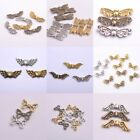 50Pcs Tibetan Silver Gold Bronze Heart Angel Wing Spacer Charms Beads A57 image