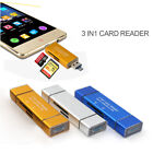 best buy usb memory - Best 3-in-1 SD TF Memory Card Reader Type C +USB2.0 +Micro USB OTG Combo Adapter