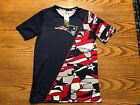 NEW ENGLAND PATRIOTS NFL TEAM APPAREL YOUTH COLOR BLOCK PERFORMANCE SHIRT L-XL $15.5 USD on eBay
