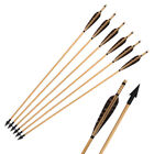 "31"" Archery Hunting Handmade Wooden Arrows with Turkey Feathers Broadheads Shot"