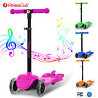 Height Adjustable Kids Kick Scooter Outdoor Sports W/LED Light Up Wheels