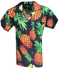 MENS HAWAIIAN SHIRT PINEAPPLE STAG BEACH HAWAII ALOHA PARTY SUMMER HOLIDAY FANCY