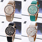 Women Girl Roman Numerals Analog Quartz Faux Leather Band Wrist Watch Lot Soft image
