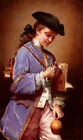 BOLE JEANNE L ENFANT AU BILBOQUET ARTIST PAINTING OIL CANVAS REPRO WALL ART DECO