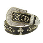 Western Bling Belt in Crocodile Print Belt