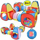 Joyin Toy 8 in 1 Pop-up Play Tent Tunnel Including 4 Kids Play Tunnels, 2 Cubic