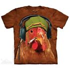 Fried Chicken T-Shirt By The Mountain 100% Cotton Big Face Tee Shirt image