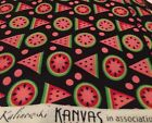 3 Yards Kanvas Black Melon Geometric Novelty Cotton Quilting Fabric